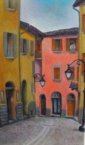 Borgo della Sorghina, olio su tela. 35 x 50. 2015