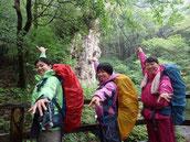 女子大学生3名様、東京から屋久島へ(9月の縄文杉1泊ガイドツアーにて)