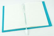 biasto-laserdesign.de Filz-A5 Notizbuch blau/türkis 90 Seiten Abmessungen geschlossen: ca. 15,5x21,5x2 cm