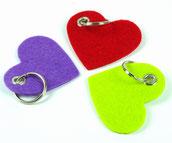 biasto-laserdesign.de Filz-Herz Schlüsselanhänger lila rot grün