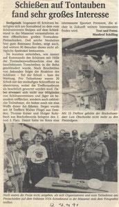 Bild: Teichler Seeligstadt Chronik 1991