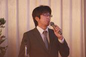 スキルアップ委員会の発表をする片岡課長補佐