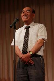 お礼の挨拶をする佐藤前調査役