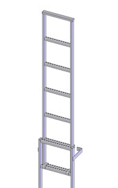 60-300 Shaft ladders - Stainless steel
