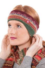 Alpaka Stirnband mit Jacquard Strick