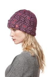 Jaquard Mütze Lila