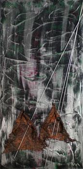 Veronika Matzner, Acryl, Stahl auf Leinwand