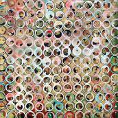 L'eau toujours pour cet artiste Bordelais Laurent Valera avec ces ronds de verres d'eau