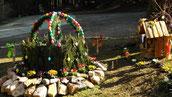 Osterbrunnen bei uns in der Entenmühle 2015