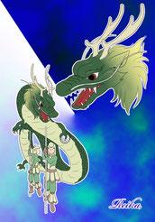 織姫パレードの先頭を飾る龍神の衣装デザイン