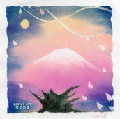 夜桜(正インストラクター講座作品)