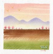 土手の桜 1