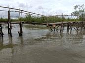 Holzbrücke, Sturmschaden