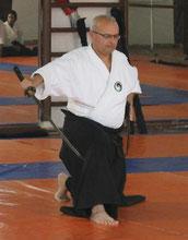 L'Expert National Dr. Kahlid BENABOUD Casablanca le 11 Janvier 2012. Démonstration Muso Shinden Ryu Iaïdo,