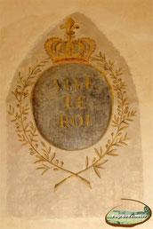 Blason Vive le roi du réfectoire des moines de Montsalvy