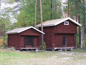 Alte Speicher in Finnland - Anstrich mit roter Kochfarbe - © Blockhaus Kuusamo