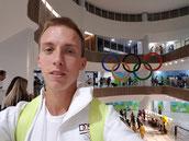Das letzte Mal olympische Ringe, kurz vor dem Rückflug