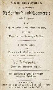 """""""Schürmanns Rechenbuch"""", Titelblatt, 2. Aufl., 1804"""