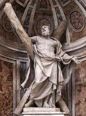 François Duquesnoy, Saint André, Saint-Pierre de Rome, Vatican, copyright : M.Lefftz