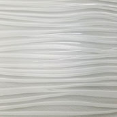 Wavy white glass tile