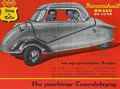 Messerschmitt avec 2 adultes et un jeune enfant à bord