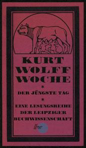 Eine Woche zu Ehren Kurt Wollfs