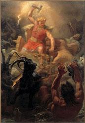 Thors Kampf mit den Riesen von Mårten Eskil Winge
