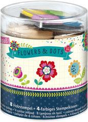 "Stempelbox ""flowers & dots"" aus dem Verlag moses."