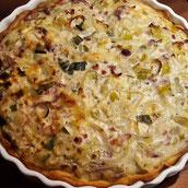 Zwiebel Kürbis Kuchen Yufkateig Vegetarisch Rezept Hauptspeise