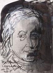 Matthias Claudius gezeichnet von Armin Mueller-Stahl, 2015 (Foto: Klaus Karstedt)