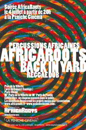 Soirée Africa Roots avec Back in Yard Reggae Dub le 04 juillet à la Péniche Cinéma