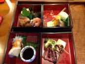 撮影遅し!!食べかけの京懐石 食い地が先でした(笑)