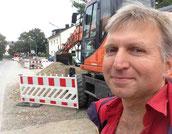 Baustelle Fernwärme in Olching Foto Solarstrom Simon