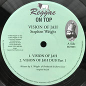 "STEVEN WRIGHT  Vision Of Jah (Reggae On Top 12"")"