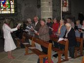 La chorale de l'ensemble paroissial ND du Relec