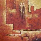 Schilderij Vage Figuren