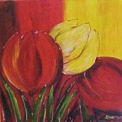 Schilderij Fleurige Tulpen