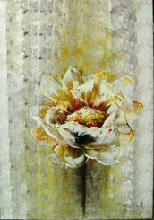 Schilderij Witte Bloem