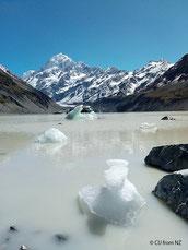 マウントクックの氷河