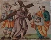 VI Estación, La Verónica enjuga el rostro de Jesús