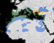 Karte zur Verbreitung der Samtkopf-Grasmücke (Sylvia melanocephala)