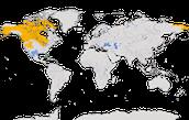 Karte zur Verbreitung des Kanadakranichs (Grus canadensis)