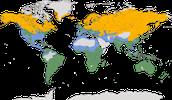 Karte zur Verbreitung der Gründelenten