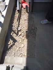 排水管の移設完了