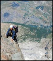 2500m plus bas, la vallée de la Romanche et La Grave.