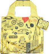 Chilino Bag Tasche NY New York Tai Fahrrad Freiheitsstatue Skyscraper Hochhäuser Hot Dog Herz, gelb