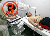 健診センターにてメディカルチェック(血液検査・心電図など)を行います。