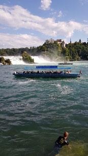 Fast menschenleerer Rheinfall