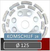 prodito slijpschijf om af te bramen of komschijf voor gebruik met een haakse slijper diameter 125 universeel steen beton en chape