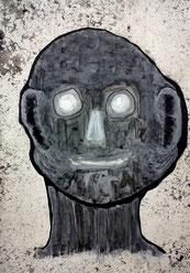 Seelenverwandte 5: Tusche und Acryl auf Papier, 29,5 x 20,5 cm, 2019